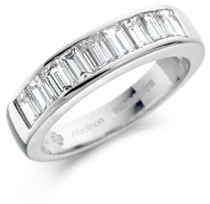 Diamond half eternity ring 1