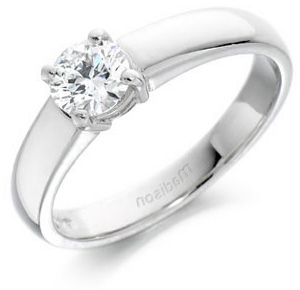 Round Brilliant Cut Wedfit Engagement Ring