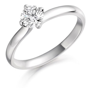 Four Claw Solitaire Engagement Ring