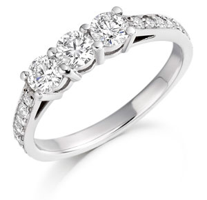 Platinum Diamond Wedfit Ring