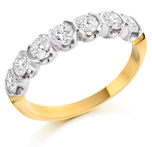 Semi-bezel Setting Diamond Ring