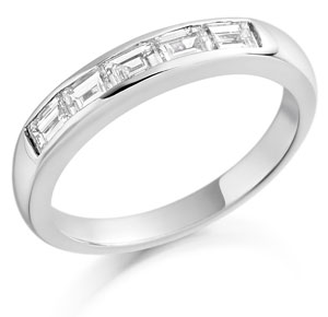 Baguette Cut Diamonds Half Eternity Ring