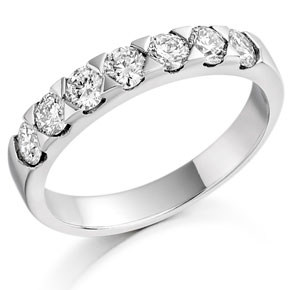 Contemporary Diamond Half Eternity Ring