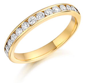 Diamond half eternity ring 17