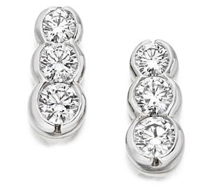 Graduated Diamond Earrings