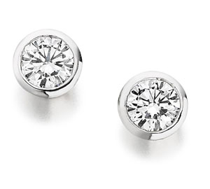 Contemporary Diamond Earrings in platinum