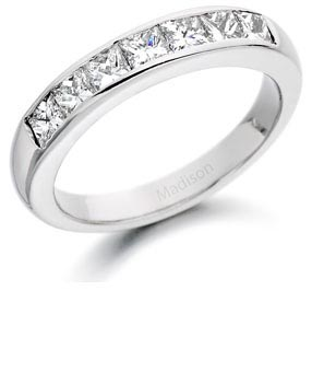 Diamond half eternity ring 19