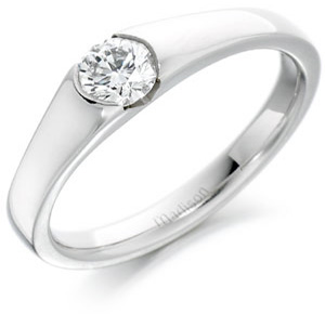 Contemporary Diamond Ring in Platinum