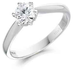 Classic round brilliant cut diamond solitaire