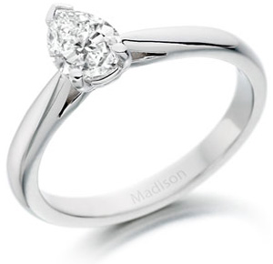 Pear Brilliant Cut Diamond Wedfit Ring