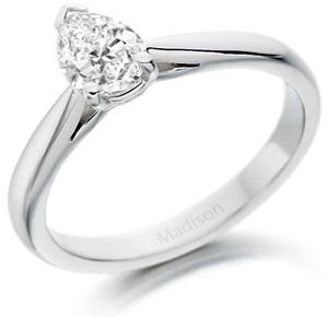 Pear Brilliant Cut Diamond Wedfit Ring