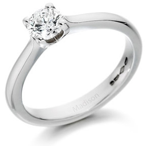 Four Claw Setting Diamond Ring