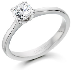Solitaire Engagement Ring in platinum