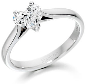 Heart Brilliant Cut Diamond Ring