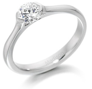 Contemporary Single Stone Diamond Ring