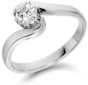 Elegant platinum engagement ring
