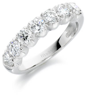Diamond half eternity ring 5