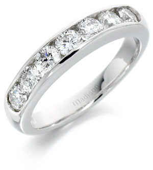 half eternity ring in platinum