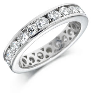 Fully set eternity ring