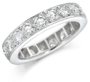 Grain Set Diamond Eternity Ring