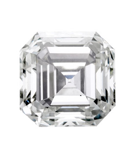Square Emerald cut diamond or Asscher cut