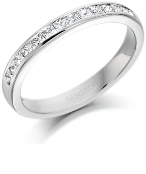 3 mm wide channel setting ring or wedding band