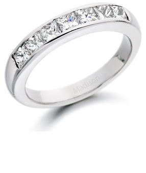 Diamond half eternity ring 10