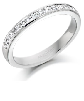 Diamond half eternity ring 11