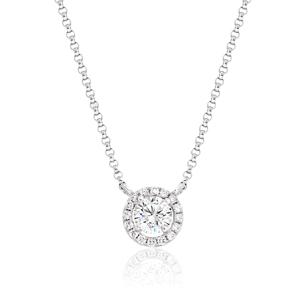 Halo Diamond Pendant