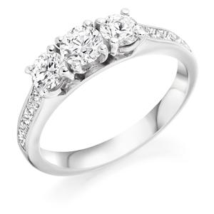 Diamond three stone