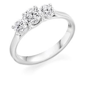 Diamond Three Stone Rings