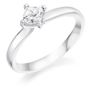 Princess Cut Diamond Single Stone Ring