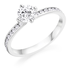 Round Brilliant Cut Diamond Single Stone Ring