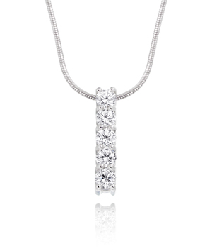 Diamond Five Stone Pendant