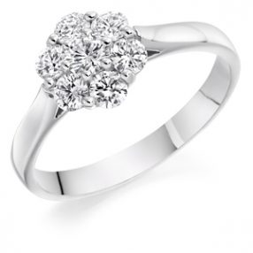 Six-by-one Cluster Ring, Wedfit Ring (5)