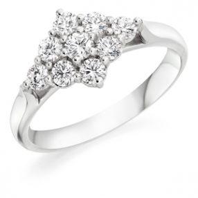 Diamond Cluster RingDiamond Cluster Ring, Wedfit Ring (2)
