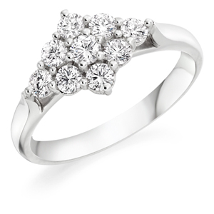 Diamond Cluster RingDiamond Cluster Ring, Wedfit Ring (2)