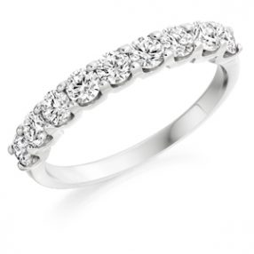 Half Set Diamond Eternity Ring