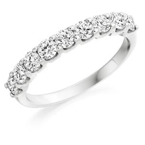 Half Set Diamond Eternity Ring