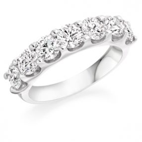 Scalloped Setting Half Eternity Ring