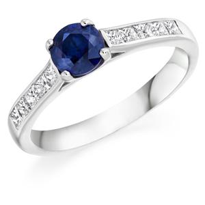Sapphire & Diamond Ring in Platinum