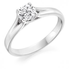 Round Brilliant Cut Single Stone Ring