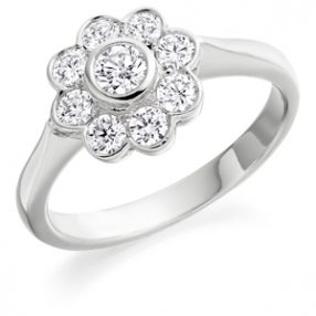 Round Brilliant Cut Diamond Cluster Ring (1)
