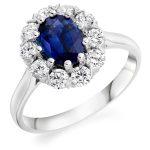 Cluster Ring Sapphire & Diamond